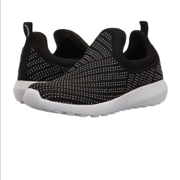 Jessica Simpson Silver Studs Black Slip On Sneaker